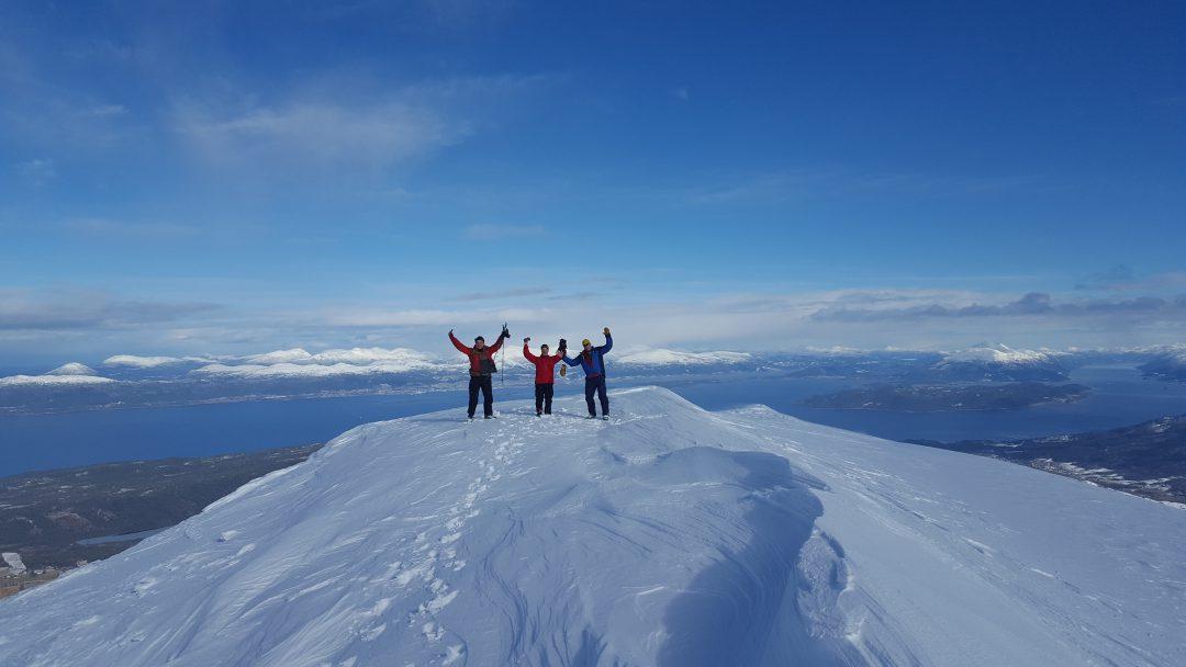 Ski Touring Around Tromso Arctic Norway Into The Mountains
