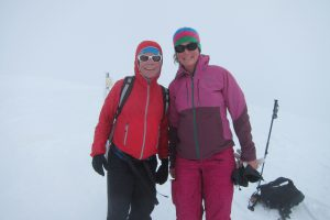 Ski touring with other like-minded pregnant women, here with Zoe Hart