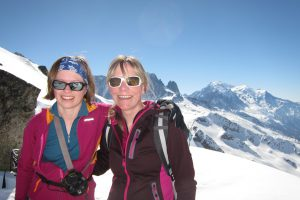 My first ski tour - other than skinning up the piste - on my birthday with Eliza