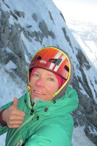 Ice climbing in the mountains...yum!